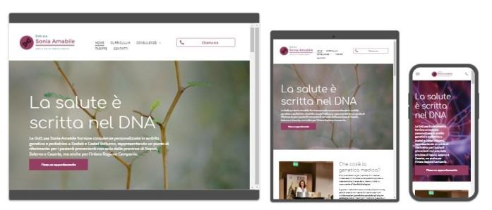 sito web Sonia Amabile Dott.ssa medico genetista